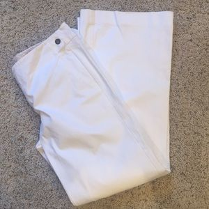 Gap flared leg white trousers size 10R